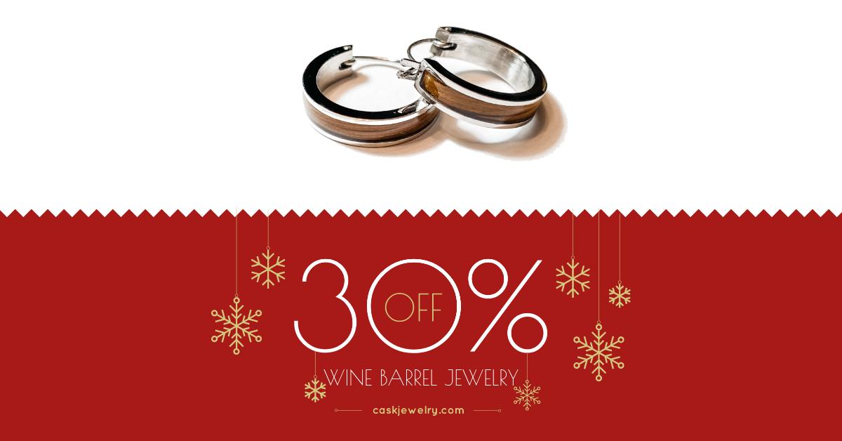 30 off small hoop earrings facebook ad