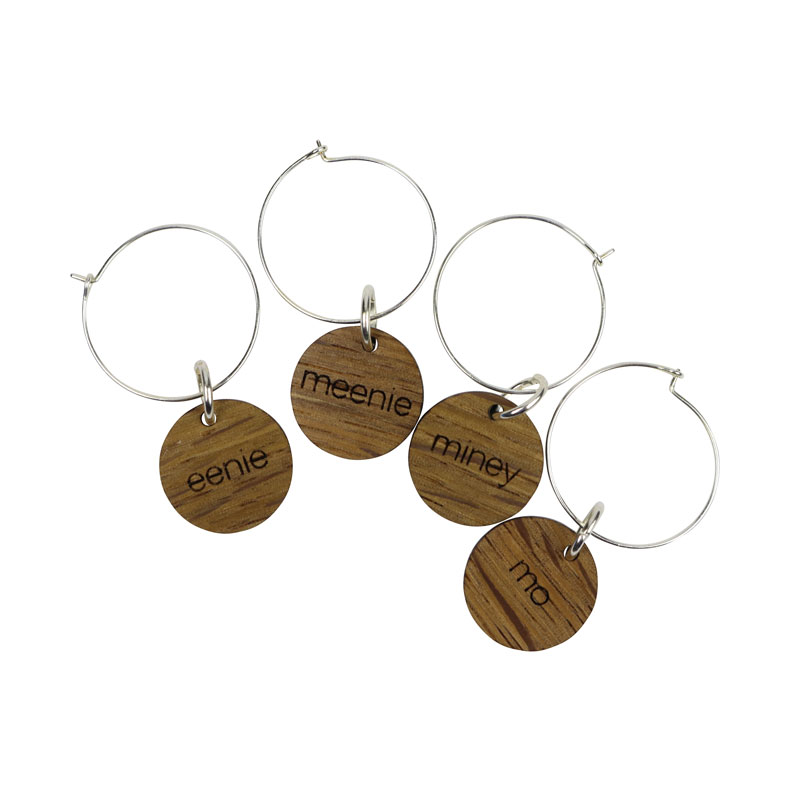 Wine Charms - eenie, meenie, miney, mo