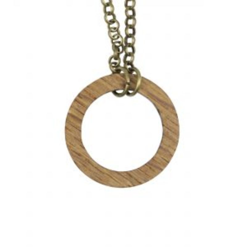 Wine Barrel Wood Necklace Circle of Life