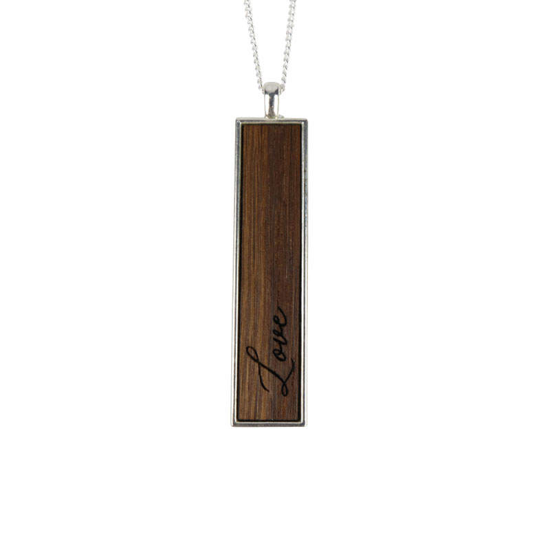 "32"" Vertical Love Bar Necklace"