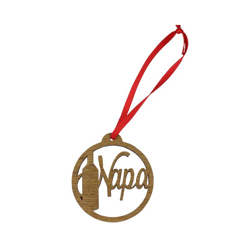Napa Wine Bottle Ornament